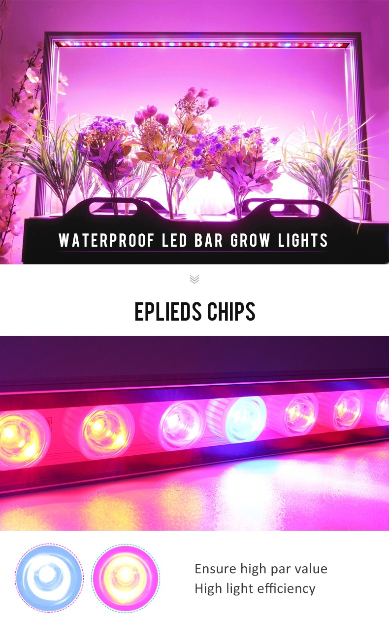 4 feet ,3 feet, 2 feet led grow light bar with IP65 waterproof
