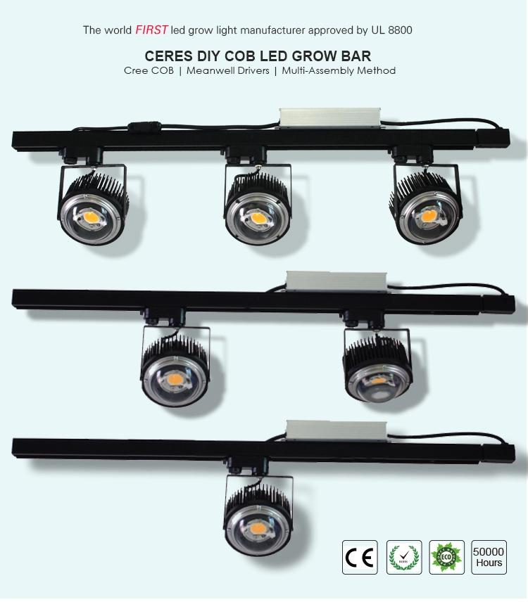 CREE 100W 200W COB led grow lights with CREE CXB 3590 chips and Meanwell driver