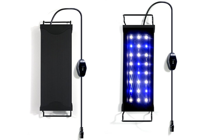 Freshwater led aquarium lamps with two channels for daylight and nightlight