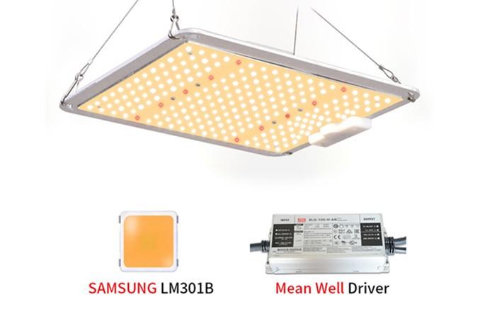 Panel led grow lights 110w-600w with samsung 301b chips and meanwell driver